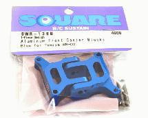 Square R/C Aluminum Front Caster Blocks, 6-degree 1-Piece Design for Tamiya WR02