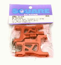 Square R/C Aluminum Rear Suspension Arms - Wide Version for Tamiya Wild Willy 2