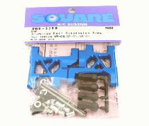 Square R/C Aluminum Rear Suspension Arms (for Tamiya Wild Willy 2) Blue