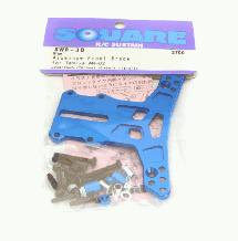 Square R/C Aluminum Front Brace (for Tamiya WR02) Blue
