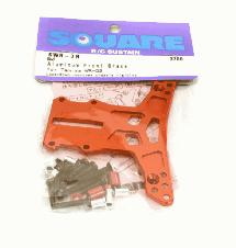 Square R/C Aluminum Front Brace (for Tamiya WR02) Red