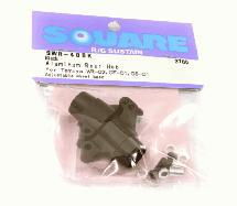 Square R/C Aluminum Rear Hub (for Tamiya GF-01, City Turbo and WR02) Black