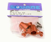 Square R/C Aluminum Rear Hub (for Tamiya GF-01, City Turbo and WR02) Red