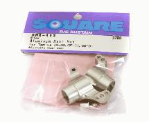 Square R/C Aluminum Rear Hub (for Tamiya GF-01, City Turbo and WR02) Silver