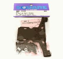 Square R/C Aluminum Rear Brace (for Tamiya WR02C) Black