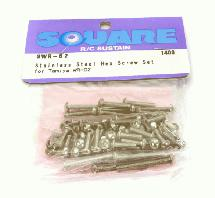 Square R/C Stainless Steel Hex Screw Set (for Tamiya Wild Willy 2)