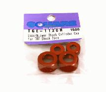 Square R/C Aluminum Upper and Lower Damper Cylinder Cap for Tamiya, Red (2 pcs.)