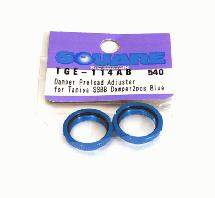 Square R/C Aluminum Damper Preload Adjuster for Tamiya (SSBB Damper) Blue 2 pcs