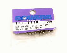 Square R/C Differential Ball 3mm (High Grade) for Tamiya (12 pcs.)