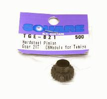 Square R/C Hard Steel Pinion Gear, 06-Module (for Tamiya) 21T