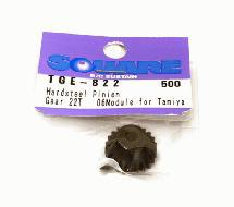Square R/C Hard Steel Pinion Gear, 06-Module (for Tamiya) 22T