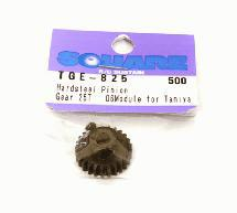 Square R/C Hard Steel Pinion Gear, 06-Module (for Tamiya) 25T