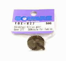 Square R/C Hard Steel Pinion Gear, 06-Module (for Tamiya) 27T