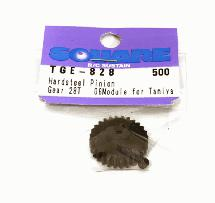 Square R/C Hard Steel Pinion Gear, 06-Module (for Tamiya) 28T