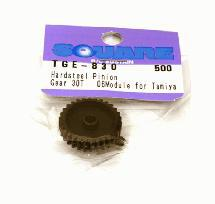 Square R/C Hard Steel Pinion Gear, 06-Module (for Tamiya) 30T