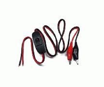 Square R/C Power Supply Switch Cord (with Alligator Clips)