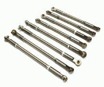 Titanium Pushrod + Turnbuckle Set (8) for 1/10 Revo, E-Revo, Summit
