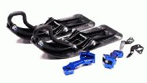 Front Sled Ski Attachment Set for 1/10 Traxxas Revo, Summit, T/E-Maxx (RWD Only)