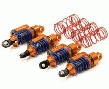 Billet Machined Piggyback Shock Set (4) for 1/16 Traxxas E-Revo & Slash VXL