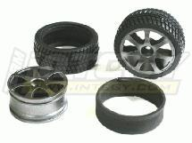 Complete 26mm RC Tire+Insert+A7 Wheel (pair)