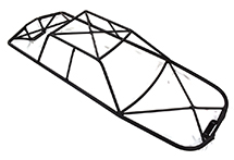 Steel Roll Cage Body for Traxxas 1/10 E-Revo (-2017) (17.56in.)