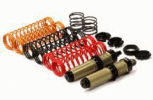 Big Bore Threaded Shock Body (2) Kit w/ Springs for HPI Savage Flux & X 4.6 2011