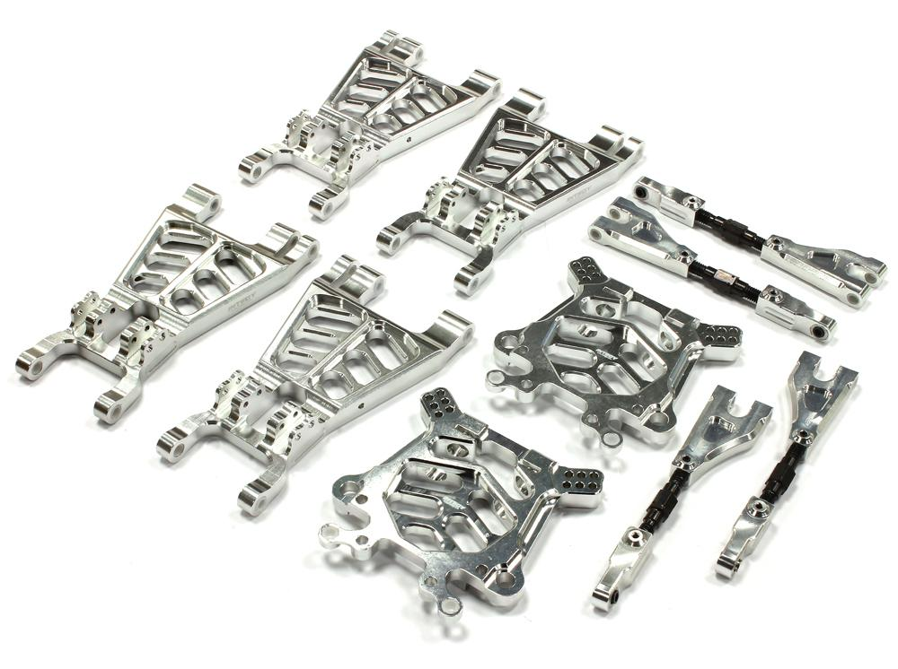 t6726silver alloy t3 suspension set for hpi savage flux  x