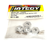 Alloy Hex Wheel Hub (4) for HPI Savage-X, 21 & 25