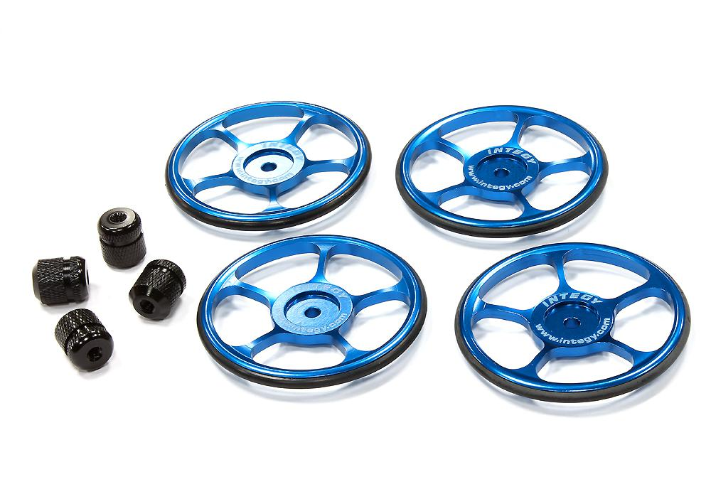 Setup Wheel (4) for Touring Car (Blue) w/ Metric Size Wheel Nut for ...