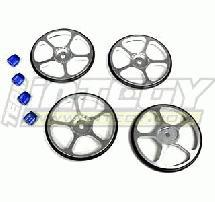 Setup Wheel (4) for Touring Car (Silver) w/ Metric Size Wheel Nut