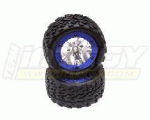 Type II Alloy Front Wheel+Tire (2) for Stampede 2WD & Rustler 2WD (O.D.=116mm)