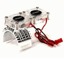 Motor Heatsink + Twin Cooling Fan for Traxxas 1/10 Slash 4X4 (6808)