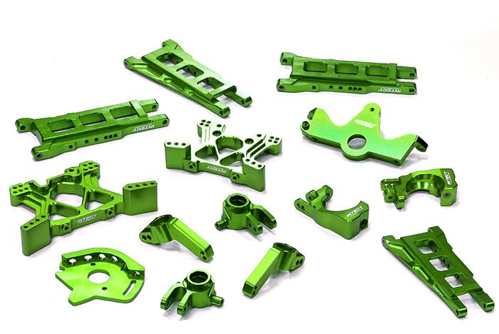 ef25bc6bbc Details about RC Car T8595GREEN T2 Conversion Kit for 1 10 Stampede 4X4    Slash 4X4(High-CG)