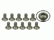 3Racing #4-40 x 1/4 Titanium Flat Head Hex Socket - Machine (10 Pcs)