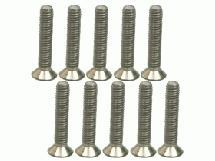 M2.6 X 14 Titanium Flat Head Hex Socket - Machine (10 Pcs)