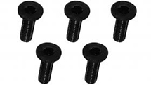M3 x 10 AL7075 Flat Head Hex Socket - Machine (5 Pcs) Black