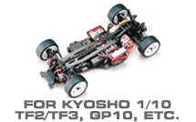 Hop-up Parts for Kyosho TF2/TF3, GP10 & Others