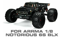 Hop-up Parts for Arrma 1/8 Notorious 6S BLX