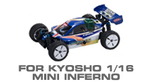 Hop-up Parts for Kyosho Mini Inferno