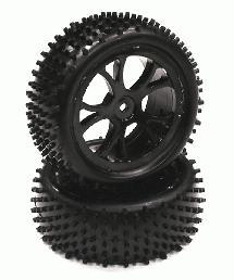 Type I Front Buggy Tire & Wheel Set (2) for 1/10 Off-Road i10B (O.D.=88mm)