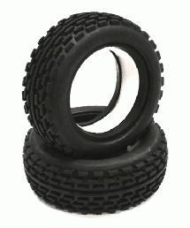 Type II Front Buggy Tire Set (2) for 1/10 Off-Road i10B
