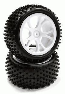 Type I Rear Buggy Tire & Wheel Set (2) for 1/10 Off-Road i10B